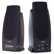 Inland Pro Sound 2000 2-Piece Black Wired Computer Speaker