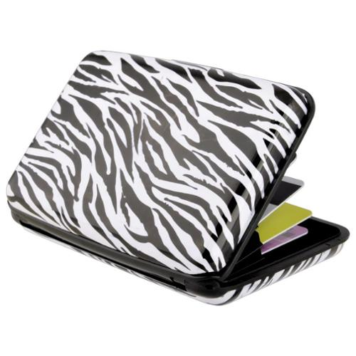 Zodaca Zebra Pocket Business ID Credit Cards Wallet Purse Holder Case Box Pocket Aluminum Metal