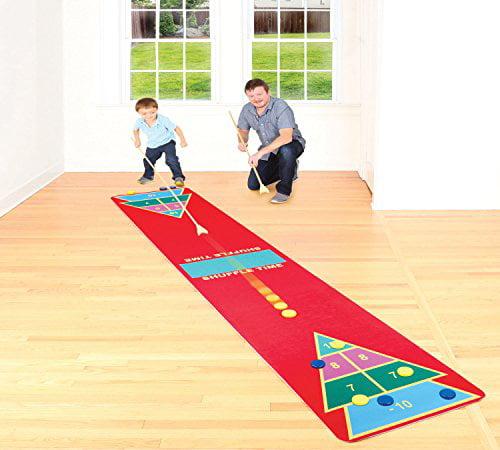 Shuffleboard Rug Game - Classic Shuffle-Board Party Game for All ...