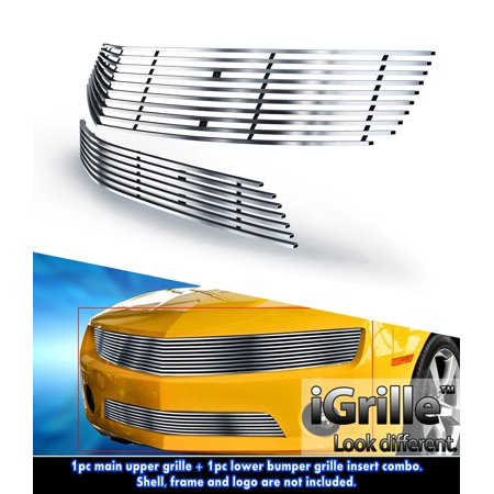 304 Stainless Steel Billet Grille Combo Fits 10-11 Chevy Camaro LT/LS/RS V6