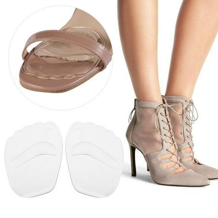 Qiilu 2pcs New Useful Gel Non-slip Forefoot Elastic Silicone High Heel Shoe Insoles Cushion, Shoe Forefoot Cushion, Shoe Forefoot Pad - image 1 of 7