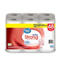 Great Value Ultra Strong Toilet Paper, 12 Mega Rolls