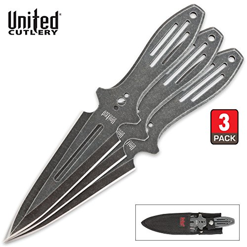 United Cutlery Stone Washed Triple Threat Throwing Knives