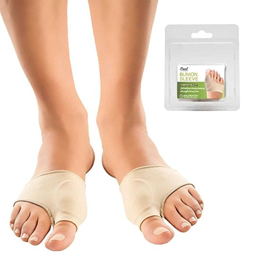 2Pcs Bunion Corrector Sleeves – Bunion Pads for Bunion Relief Brace Protector Bootie Toe Separator Orthopedic Bunion Corrector for Hallux Valgus Correction – for Daytime and Night Wear