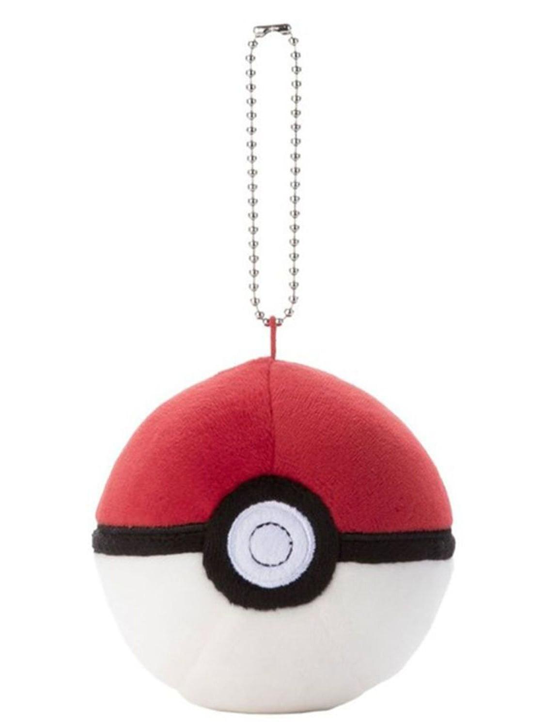 "3/"" Mocchi Mocchi Pokeball Plush Pokemon Keychain"