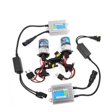 Unique Bargains2Pcs 12V 35W 4300K H4 HID High Low Beam Bulbs Bi-Xenon Conversion Kit for Car