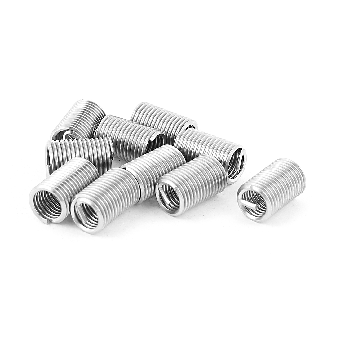 10Pcs 304 Stainless Steel Helicoil Wire Thread Repair Inserts M6 x 1mm x 2D