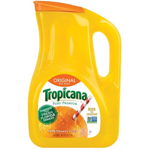 Tropicana Pure Premium Original No Pulp 100% Orange Juice, 89 fl oz