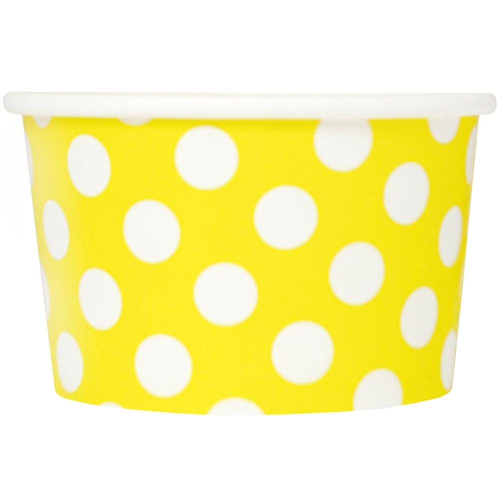 4 per sheet custom colors Polka dots in 6-inch size