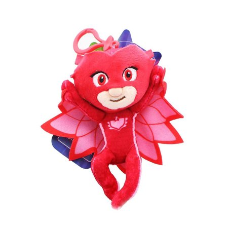 PJ Masks Clip-On Owlette Plush Key chain Coin Clip On BOOK Bag RED Keychain