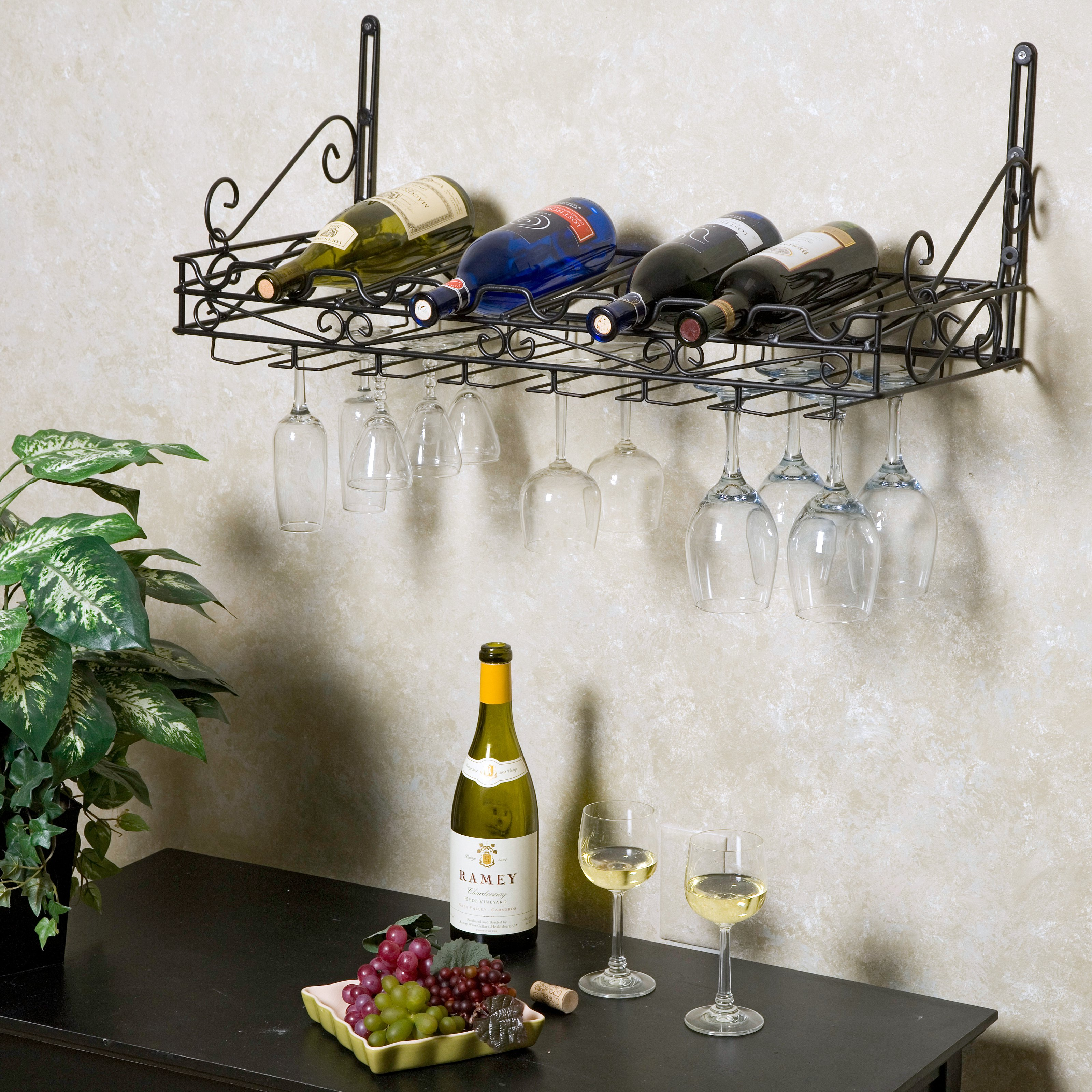 the beautiful diy wall guam gallery shelf photos wine of glass rack bisita mounted
