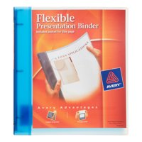 Avery Flexible Binder, 0.5 in. Ring, Blue (17670)