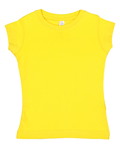 Rabbit Skins Toddler Girls' Fine Jersey T-Shirt 3316