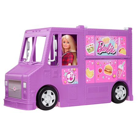 Barbie Food Truck with Multiple Play Areas & 30+ Realistic Play Pieces, Dolls Sold Separately