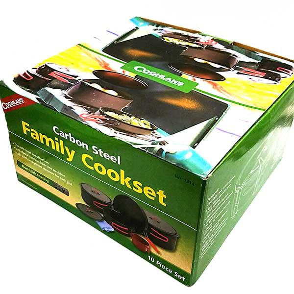 Coghlans Non-Stick Family Cook Set Carbon Steel w/Carry Bag