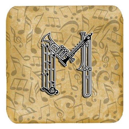 Letter M Musical Instrument Alphabet Foam Coasters, Set Of 4 - image 1 de 1