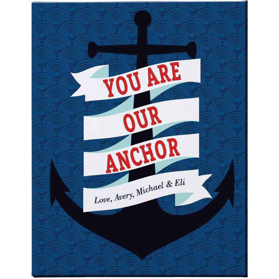 "Personalized You Are The Anchor Canvas, 16"" x 20"", Our"