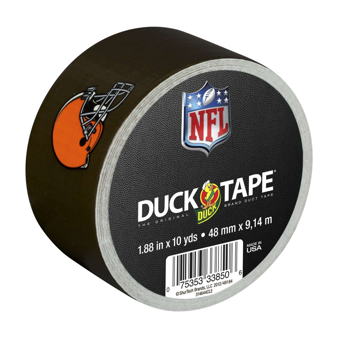 NFL Licensed Duck Tape Brand Duct Tape - Cleveland Browns, 1.88 in. x 10 yd.