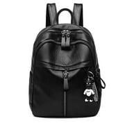 Women Leather Backpack Bag Cross Shoulder Travel Handbag School Backpack