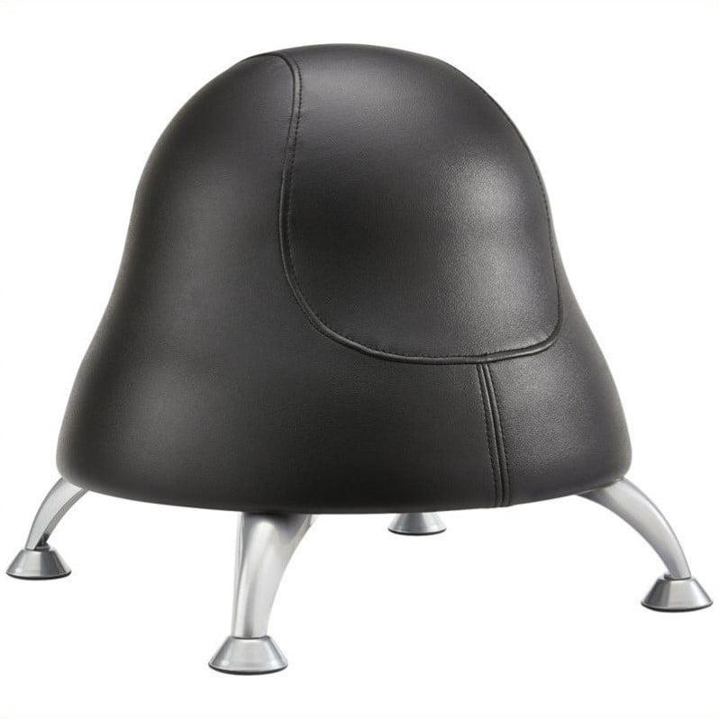 Pemberly Row Ball Office Chair in Black Vinyl