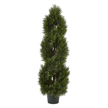 Cypress Topiary (Nearly Natural Double Pond Cypress Spiral Topiary)