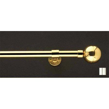 - Liber 1022 Curtain Rod Set - 1.25 in. - Chrome - 126 in.