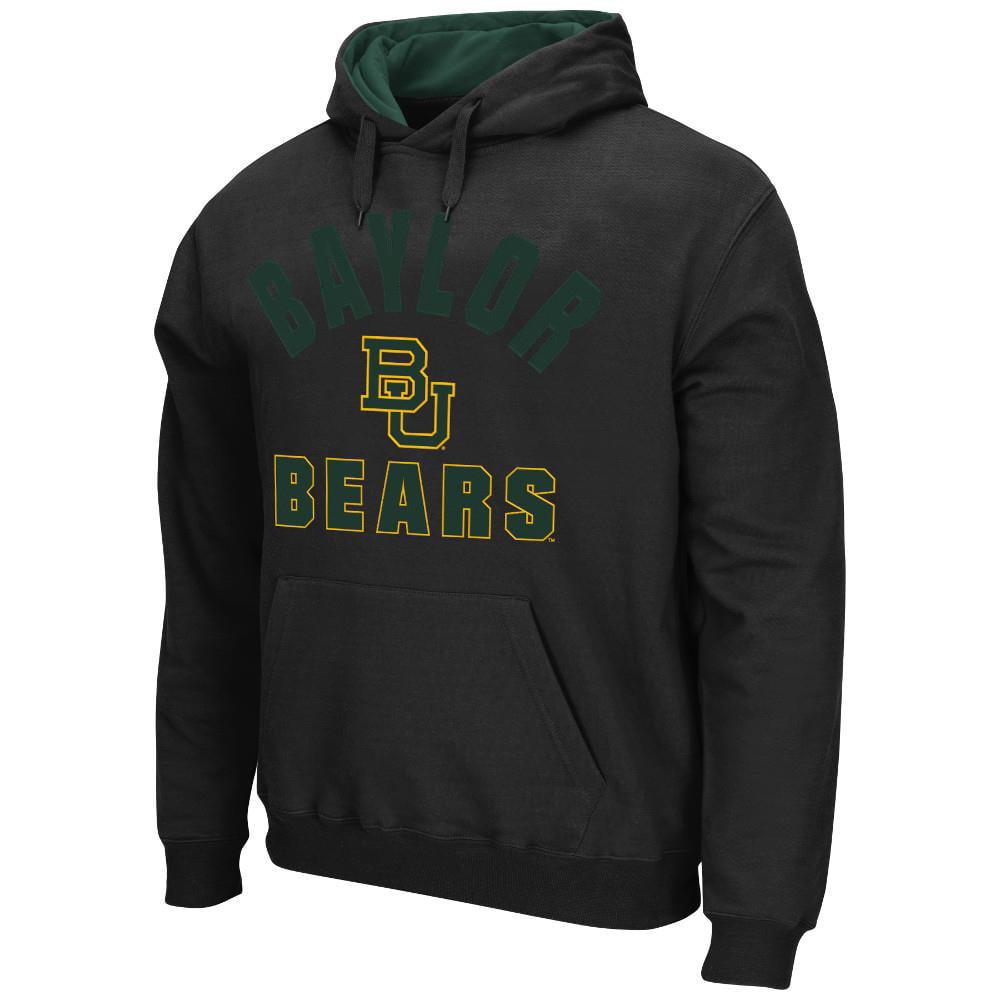Mens NCAA Baylor Bears Pull-over Hoodie (Black)