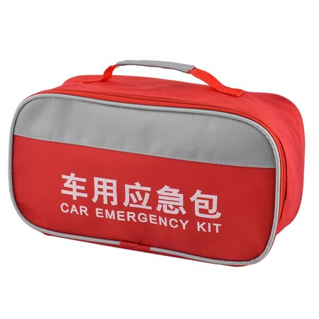 746 Oxford - Home Office Outdoor Oxford Cloth First Responder Aid Rescue Storage Bag Red