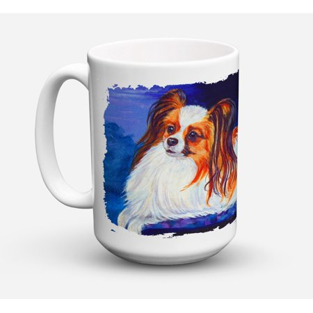 Papillon Dishwasher Safe Microwavable Ceramic Coffee Mug 15 ounce 7127CM15