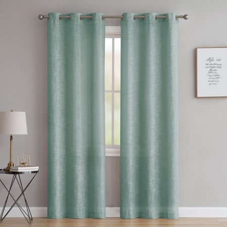 2 Panel Curtain Set - Better Homes & Gardens Heathered Window Curtain Panel, Set of Two, Available in Multiple Colors and Sizes