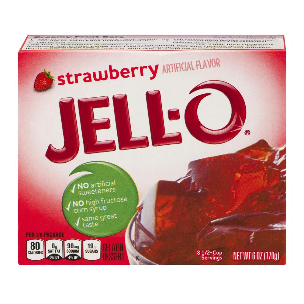 Jell-O Gelatin Dessert Strawberry, 6 Oz