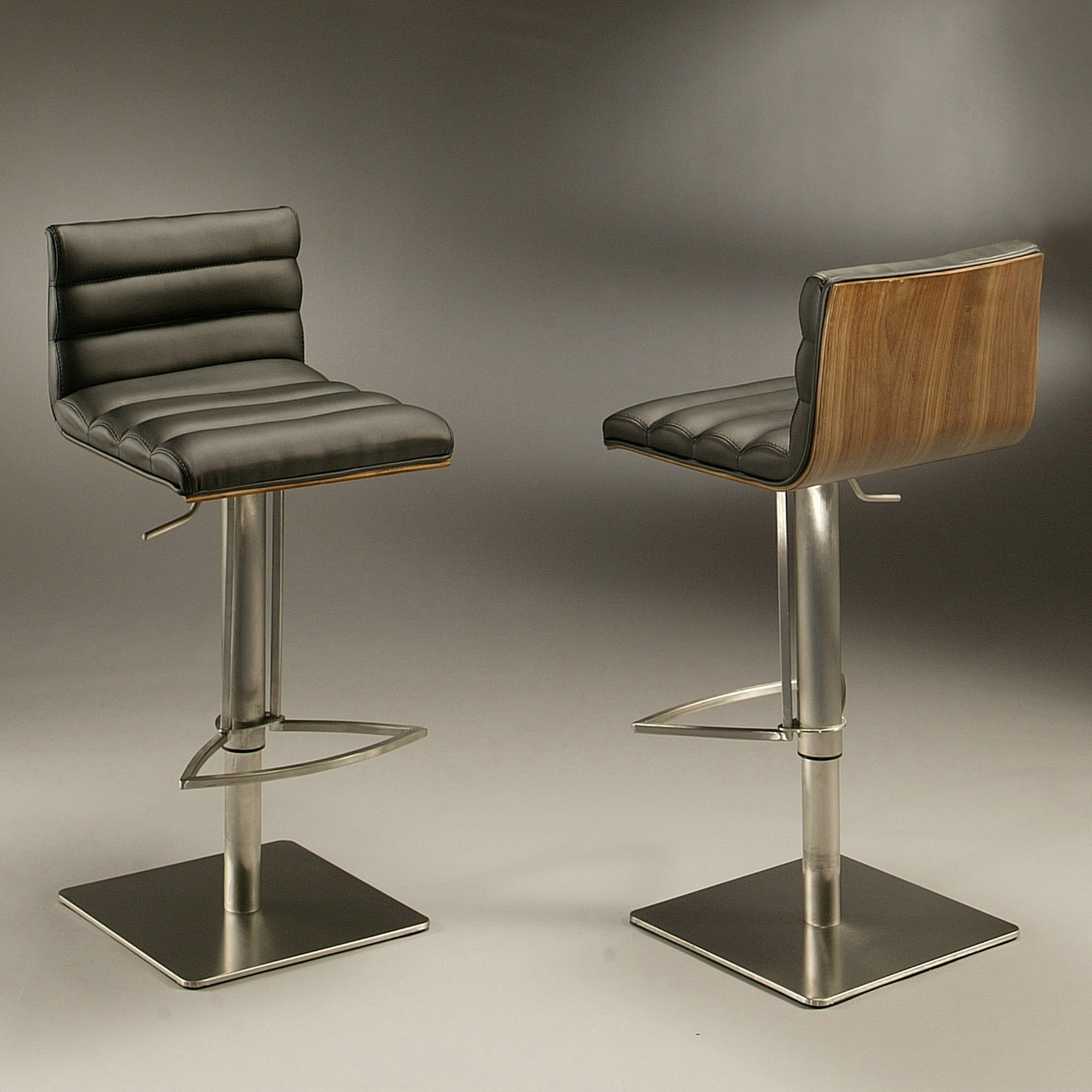 Impacterra Adjustable Dubai Hydraulic Bar Stool - Stainless Steel