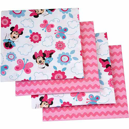 Disney Minnie Mouse Happy Day Flannel Blanket, 4-Pack