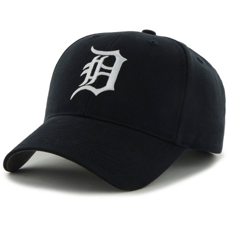 Detroit Tigers 47 Youth Basic Adjustable Hat   Navy   Osfa