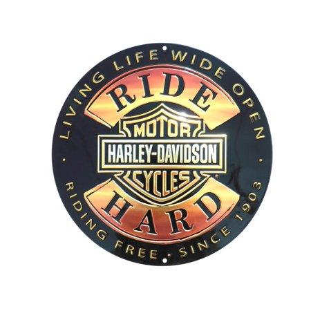 Rude Signs (Harley-Davidson 14'' Round Sign - Ride Hard)