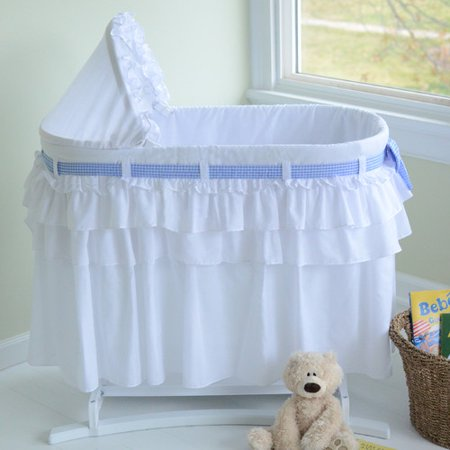 Lamont Home Goodnight Baby Bassinet with Full Skirt, White ...