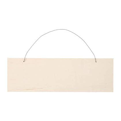 Darice 9149-13 Unfinished Wood Natural Hanging Sign with Wire, 8-Inch - Unfinished Wood Signs
