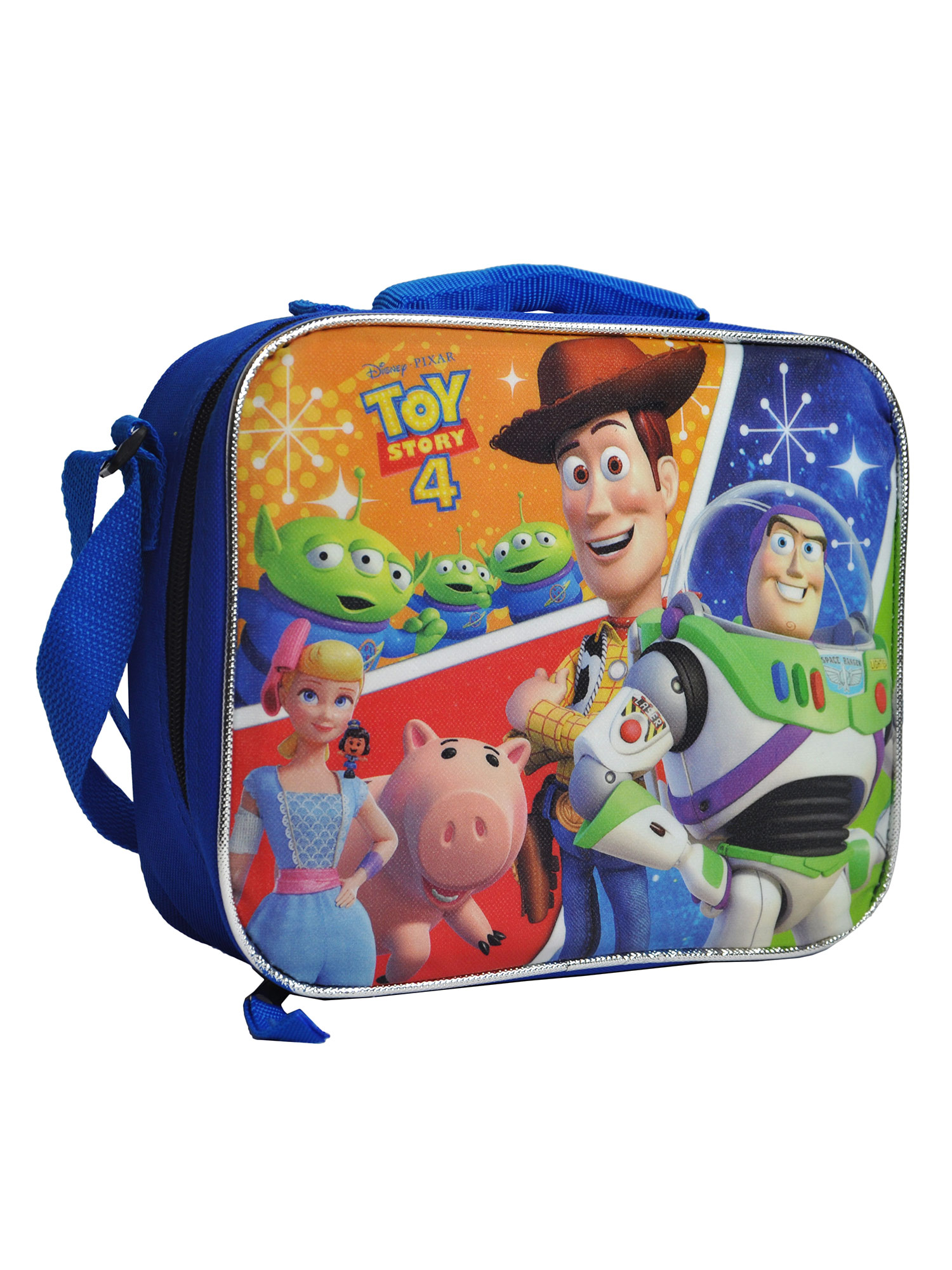 Boys Toy Story 4 Insulated Lunch Bag Shoulder Strap Aliens Hamm Woody Buzz