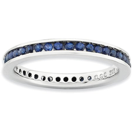Created Sapphire Sterling Silver Polished Ring