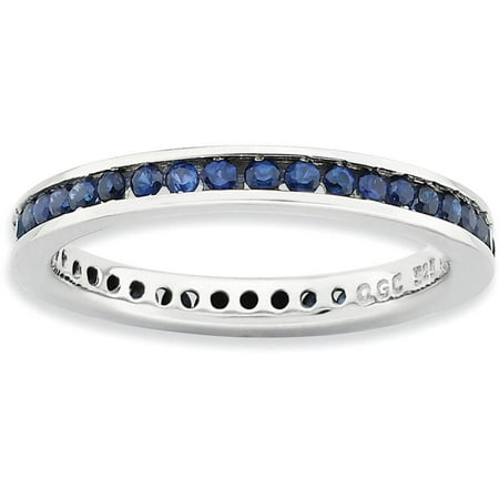 Stackable Expressions Created Sapphire Sterling Silver Polished Ring