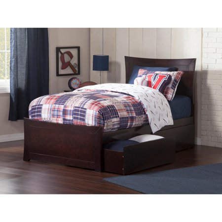 Metro Platform Bed with Matching Foot Board with 2 Urban Bed Drawers, Multiple Colors and Sizes (Metro Bel Air)