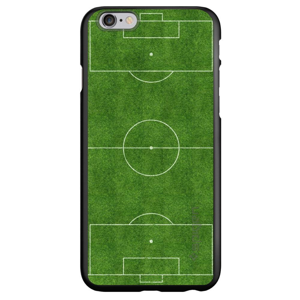 "CUSTOM Black Spigen Thin Fit Case for Apple iPhone 6 / 6S (4.7"" Screen) - Soccer Field Layout"
