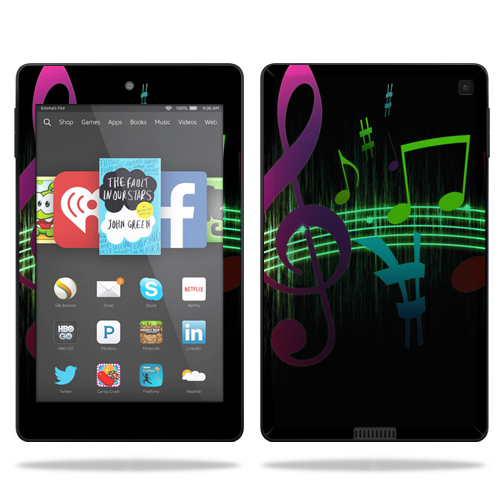 Skin Decal Wrap for Amazon Kindle Fire HD 6 sticker Notes