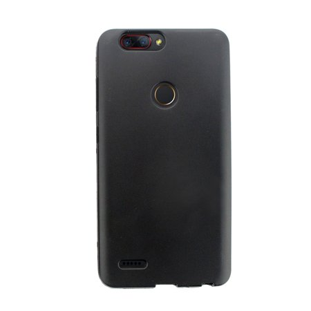 ZTE Zmax Pro 2 Case, by Insten TPU Rubber Candy Skin Shell Back Gel Case Cover For ZTE Zmax Pro 2 - Black - image 4 de 4
