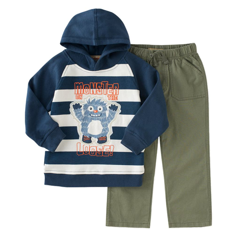 Kids Headquarters Infant Boys 2P Monster On The Loose Hoodie & Pants Set