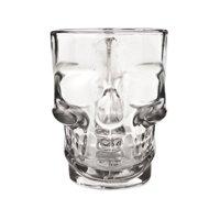 Beer Stein Ornament, 16oz Eerie Skull Beer Decorative Mug Glass Beer Stein