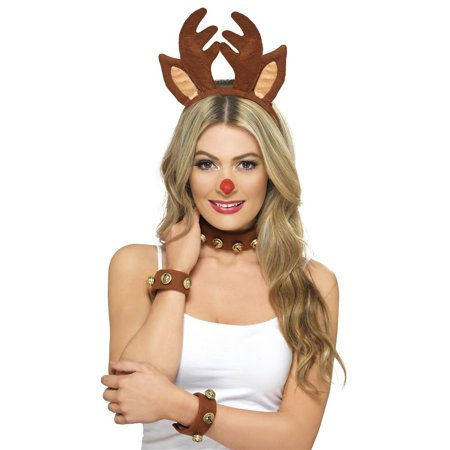 Pin Up Reindeer Kit Adult Costume Accessory Kit (Women Reindeer Costume)