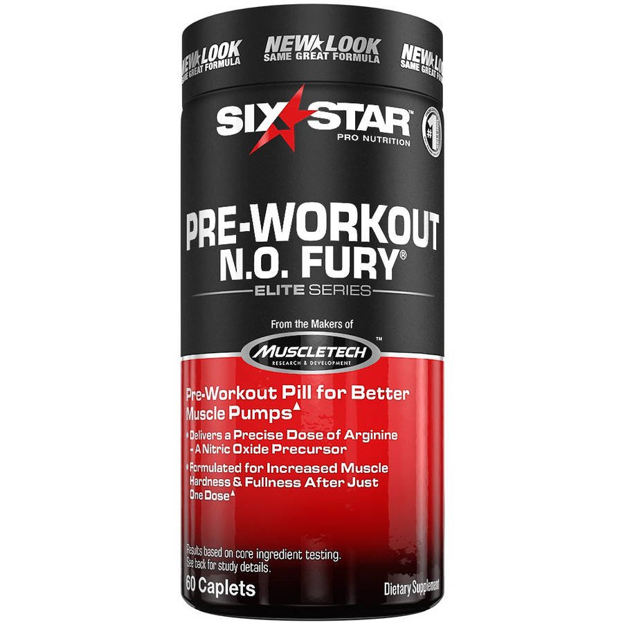 Six Star Pro Nutrition Elite Series Professional Strength N.O. Fury Caplets, 60ct