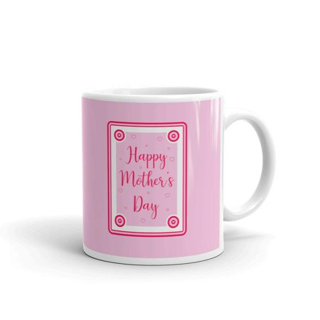 Happy Mother's Day with Hearts Coffee Tea Ceramic Mug Office Work Cup Gift 15 oz