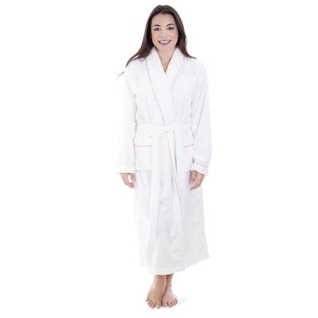 Simplicity - Mens Bathrobe Soft Plush Coral Velvet Spa Bathrobe Kimono Robe 1ab0c60bf